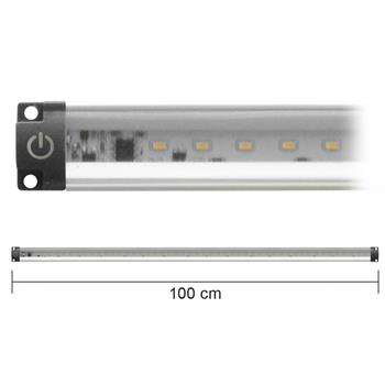 BARRA LED CON INTERRUTTORE 10W BIANCO NATURALE 100cm 12Vdc